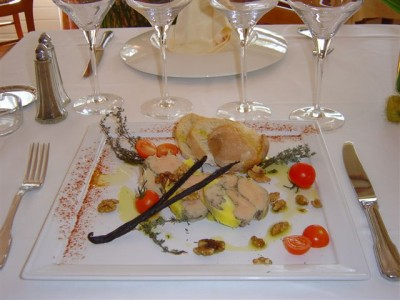 Foie Gras Mi-Cuit - Restaurant la Table du Barry Gratentour